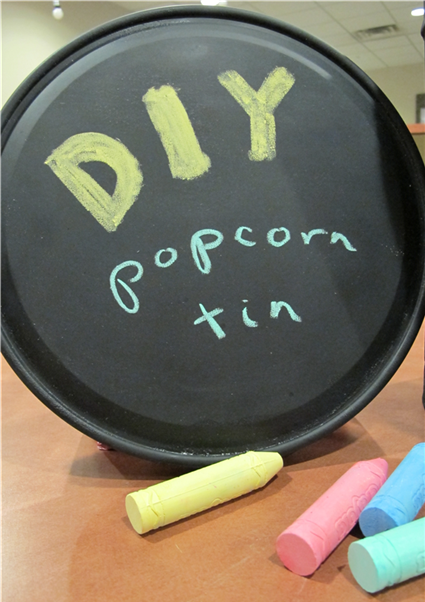 Popcorn Tin Reuse DIY