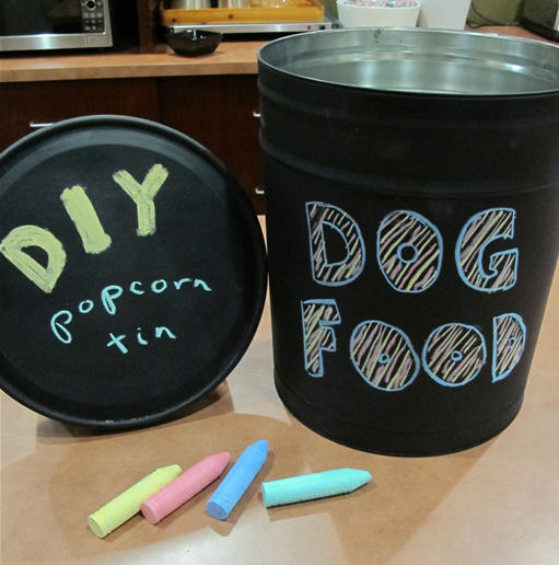 popcorn tin upcycle DIY