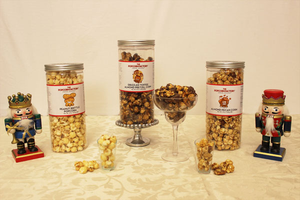 The Popcorn Factory 3-Canister Nut Lovers Assortment