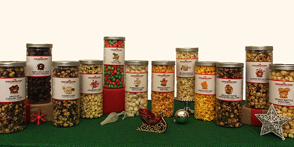 The Popcorn Factory 3-Canister Popcorn Sets