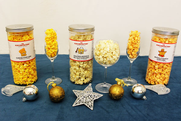 The Popcorn Factory 3-Canister Savory Assortment