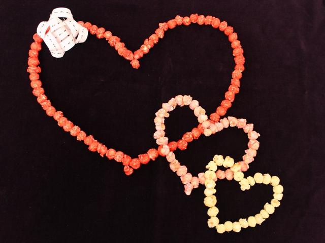 Valentine's Day Popcorn Hearts