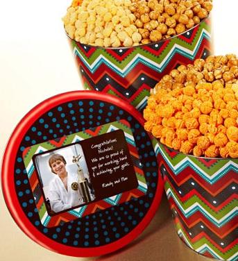 Personalized ZigZag 3-Flavor Popcorn Tin