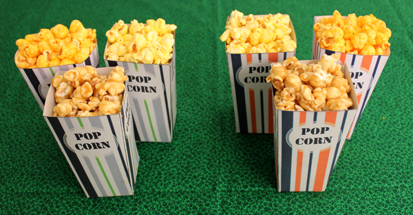 DIY Super Bowl Popcorn Box Printables
