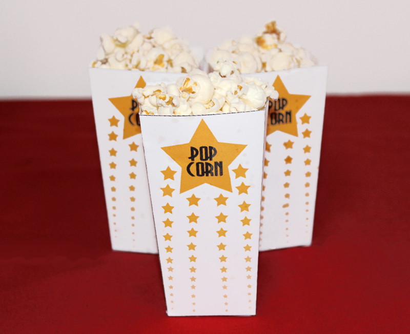 Oscar Party Popcorn Box Printables