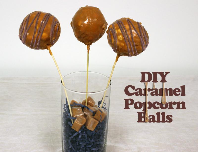 DIY Caramel Popcorn Balls