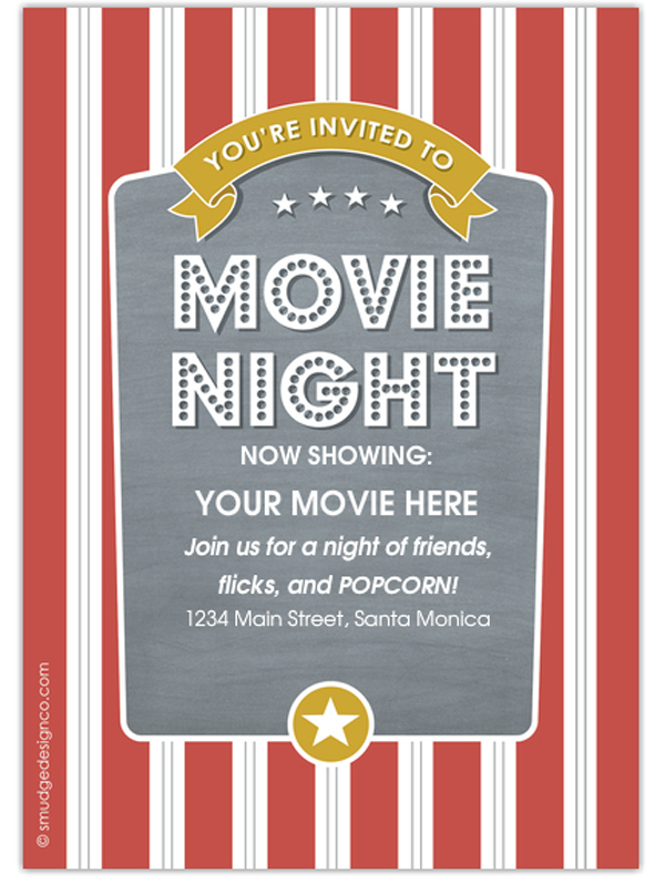 movie night invitation templates - Daway.dabrowa.co