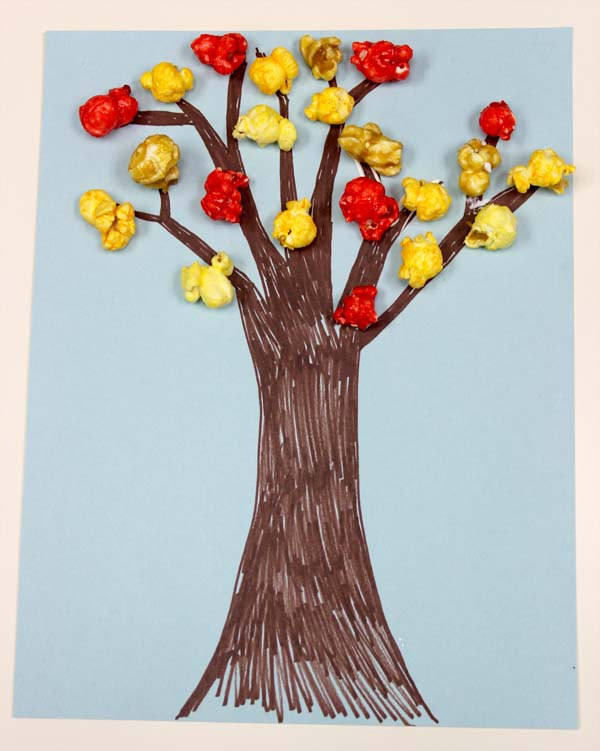 Diy Popcorn Tree For Fall Craft For Kids The Popcorn Factorythe